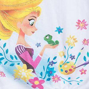 Camiseta Blanca Rapunzel