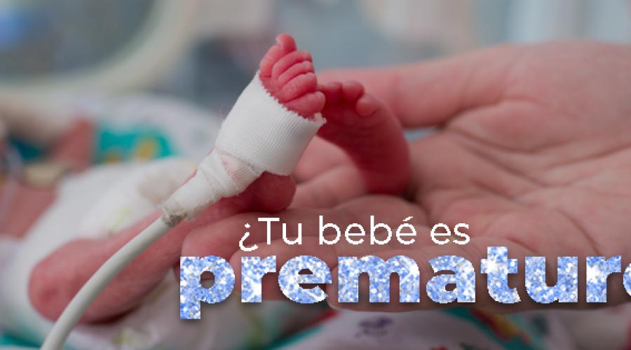 ¿Tu bebé es prematuro?